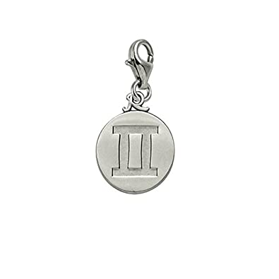 Charms for Bracelets and Necklaces Initial J Charm With Lobster Claw Clasp