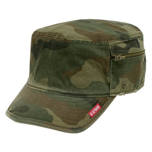 Rapid Dominance Unisex Adult Military Fatigue Cap With Zipper/Angled Bill-Woodland-Small (Fatigue Style Hat)