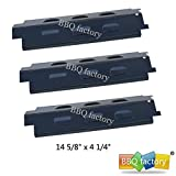 bbq factory® JPX531 (3-pack) Porcelain Steel Heat Plate Replacement for Select Gas Grill Models by Charbroil, Kenmore, Grill King and Others