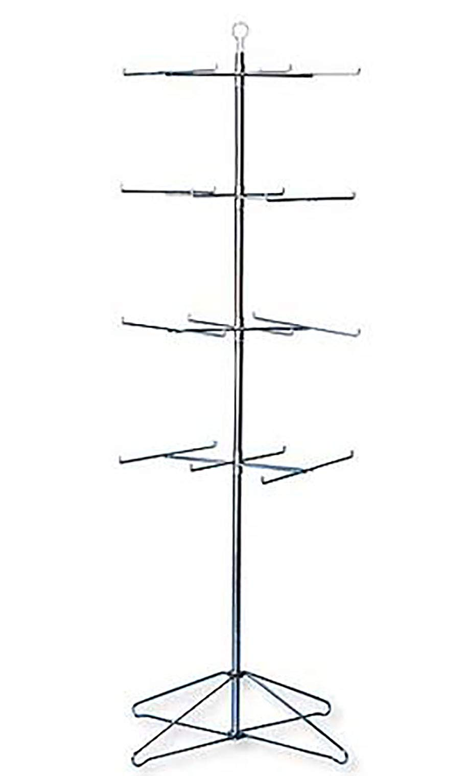SSWBasics 4-Tier Chrome Wire Spinner Rack (6 Tiers - Space 12'' Apart)