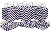 Medium Kraft Gift Bag Chevron Design Bulk set of 2 Dozen