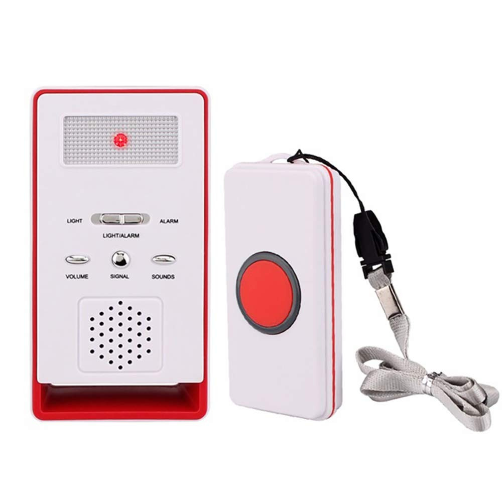 Wireless Home Care Alert Calling System for Elderly Patient Pregnant Children Disabled with Receiver+Call Transmitter Button Vinmax