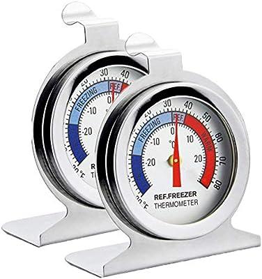 Termómetro para refrigerador, INRIGOROSO Paquete de 2 Termómetro ...