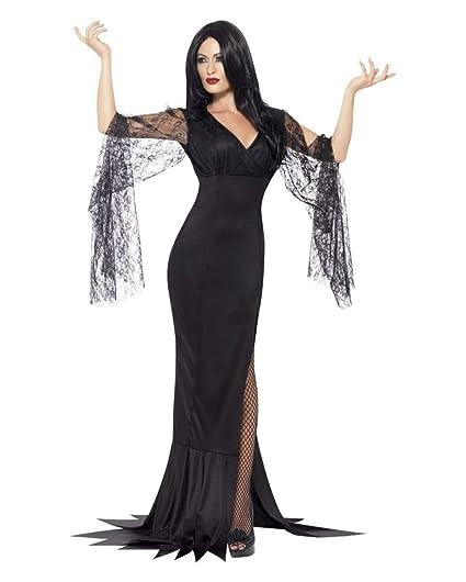 Horror-Shop Vestido Seductora Morticia L: Amazon.es ...