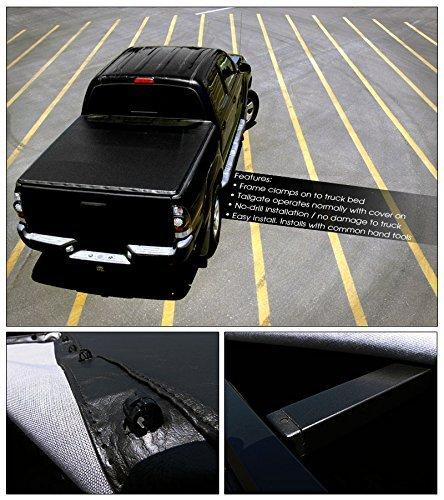 VXMOTOR for 88-00 Chevy/GMC C/K Pickup Truck FLEETSIDE 6.5ft Short Bed - Snap-On Tonneau Cover