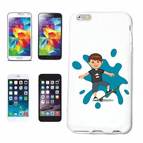 """cas de téléphone iPhone 6S """"YOUNG AT SKATEBOARDS SKATEBOARD SKATEBOARDER LONGBOARD FREESTYLE SKATER"""" Hard Case Cover Téléphone Covers Smart Cover pour Apple iPhone en blanc"""