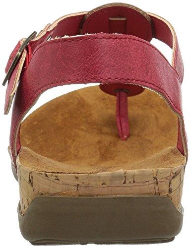 con talón Rojo Sandalias para Mujer Bearpaw RxaCSwq5