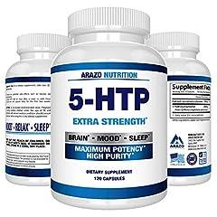 Arazo Nutrition 5-HTP Supplement - 120 Pills - 60 Day Supply