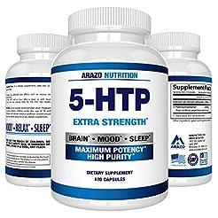 5-HTP 200 mg Supplement - 120 Capsules -...