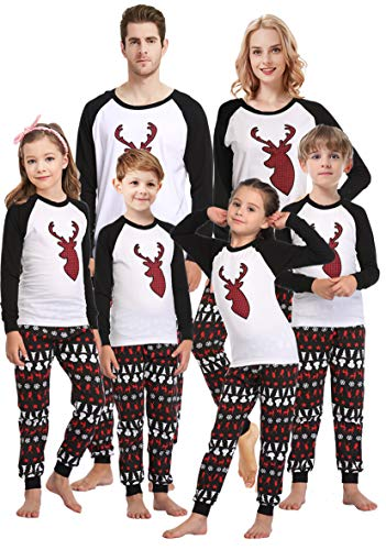 Matching Family Pajamas for Girls Mum and Me Handmade Deer Pjs Children Sleepwear Baby Boys Clothes Kids 4t