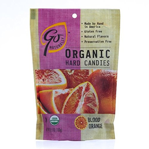 GoOrganic Gluten Free Hard Candies, 3.5-Ounce Bags Variety Flavor Pack of 6 (Blood Orange, Ginger, Honey Lemon, Honey, Iced Mind Mango, Pomegranate) by Go Organic