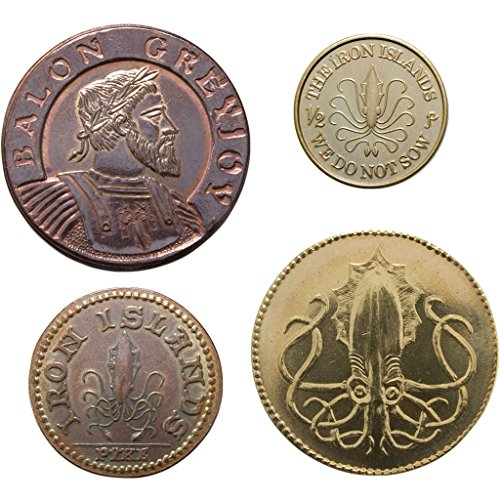 Shire Post Mint House Greyjoy Game of Thrones Collectible Coins, Set of 4