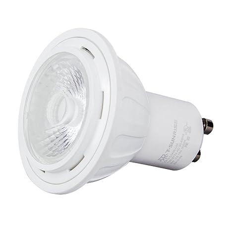 t-sun GU10 LED foco 6 W, 3000 K, 400 lm, equivalente