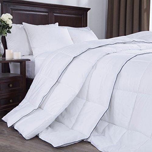 PUREDOWN  White Down Alternative Comforter, Duvet Insert, 100% Polyester, White, Twin/Twin XL  Size