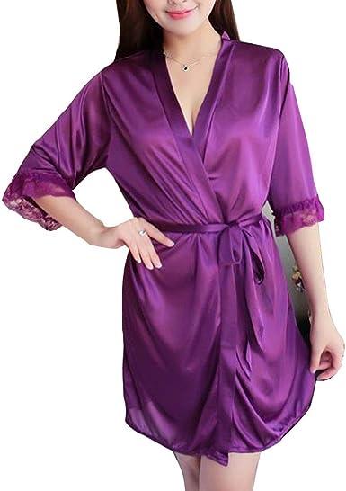Kimono Mujer Batas Cortos Ropa De Dormir Vestido Kimonos ...