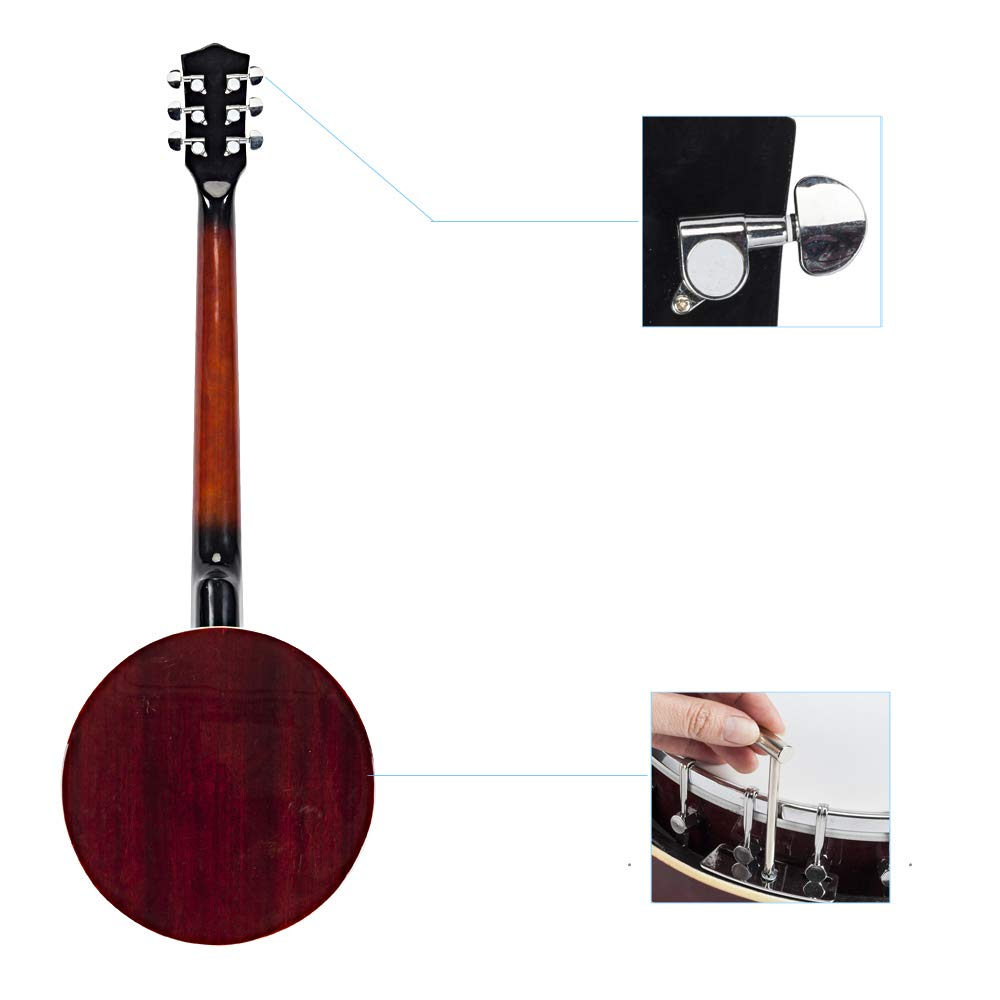 Top Grade Exquisite Professional Sapelli Notopleura Wood Alloy 6-string Banjo by Teekland (Image #4)