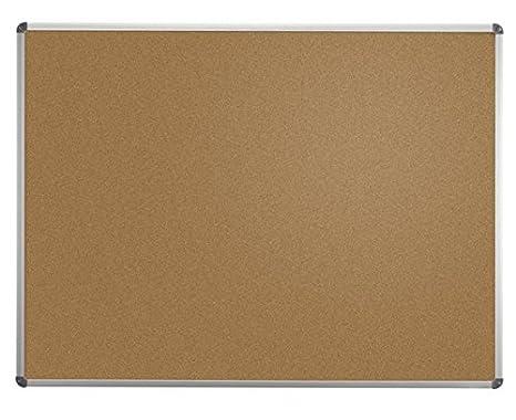 Bacheche Per Ufficio : Maul 6441084 fixed bulletin board alluminio sughero marrone grigio