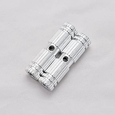 1 Pair of Premium Mini Silver Aluminum Alloy Kid-Sized Foot Pegs Fits Most Standard BMX Trick Mountain Bikes (2.67in Long, 0.35in Diameter Hole, 0.75in Wide)