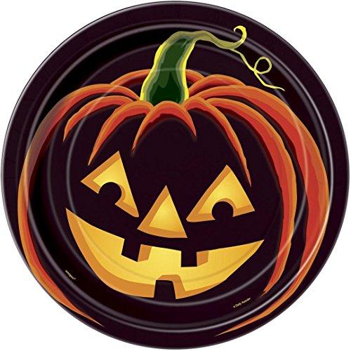 Pumpkin Grin Halloween Dinner Plates, 8ct (Service Industry Halloween)