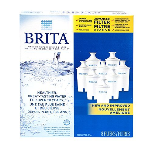 BRITA Water Filter Pitcher Advanced Replacement Filters, ...