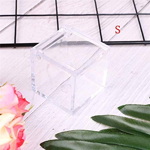 5cm Favor Box - 1pc Square Wedding Candy Box Clear Gift Transparent Can Open Favor Boxes Baby Shower Souvenirs - Bags Pvc Gift Candy Wedding Box Favor Box Souvenir Wedding Baby Blue Box Box Clear ()