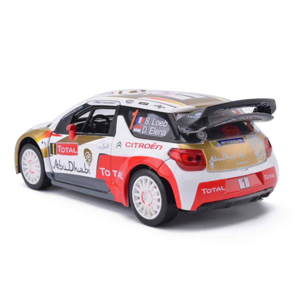SXET-Mod/èle de voiture Mod/èle de voiture mod/èle de voiture en alliage de voiture de rallye Citroen WRC 1:26 mod/èle de voiture de simulation Pull Back voiture mod/èle voiture de jouet pour enfants