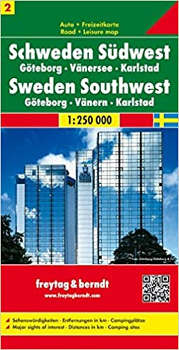 South Western Sweden Road Map Goteborg Vanersee Karlstad No 2