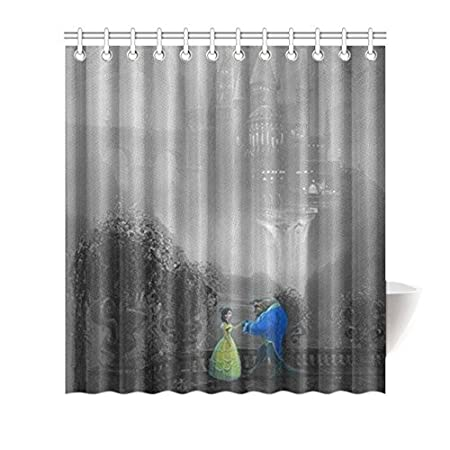 Disney Beauty And The Beast Shower Curtain W66quotH72quotwith
