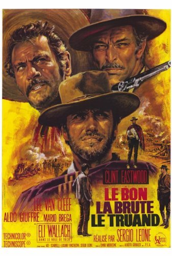 The Good, The Bad and The Ugly Movie Poster (27 x 40 Inches - 69cm x 102cm) (1966) French Style B -(Clint Eastwood)(Eli Wallach)(Lee Van Cleef)(Chelo Alonso)(Luigi Pistilli)(Rada Rassimov)
