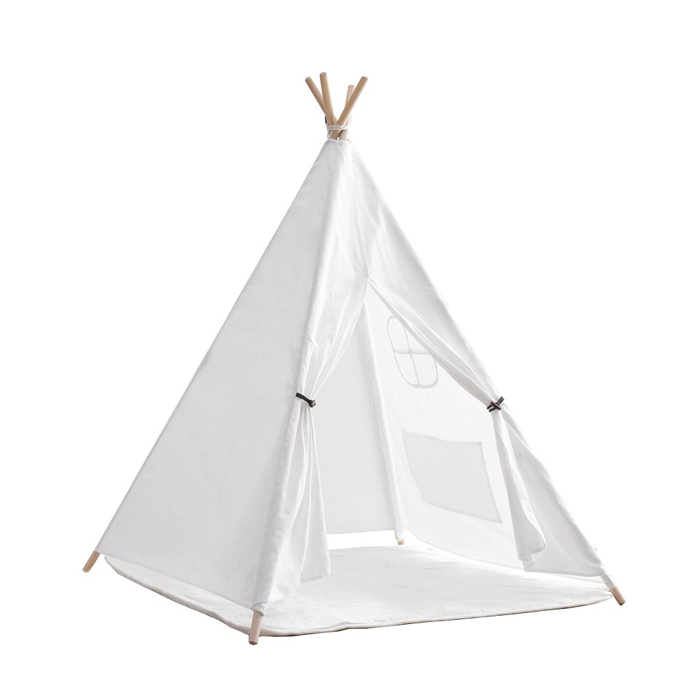 Indiano tenda Tipi/Tenda da gioco per bambino ragazza–100% naturale cotone tela di gioco della tenda per bambini–comunione con materasso CLS International
