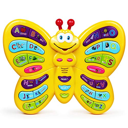 Bambiya Preschool Learning Butterfly Toy, Interactive Educational Toy w/ ABC Learning for Toddlers, Animal Sounds…