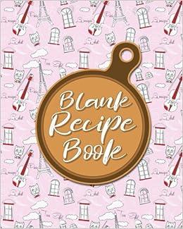 blank recipe book blank cookbook journal empty recipe book blank