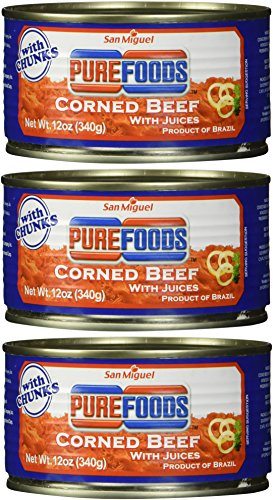 San Miguel Purefoods Corned Beef with Chunks 3 cans x 340g (ORIGINAL)