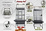 Homey Pet Parrot Macaw Cockatoo Conure Finch Cage with Play-Top, Lockable Caster and Seed Catcher(31'' x 33''),Overal Size: L22''x W24''x H66''