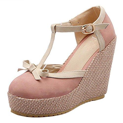 Compensé Pink Sandales Plateforme Femme TAOFFEN wX0q7w