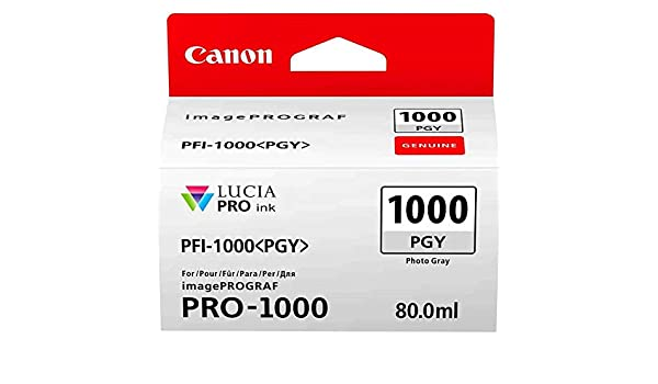 Canon PFI-1000 PGY Cartucho de tinta original Foto Gris para ...