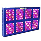 1200W LED Growing Light,MEIZHI Grow Lamps Full Spectrum Dual Switches for Hydroponic Greenhouse Tent Indoor Plants Veg Flowers- 240pcs LEDs,UL Certificated Power Cord,Aluminum Heat Sink