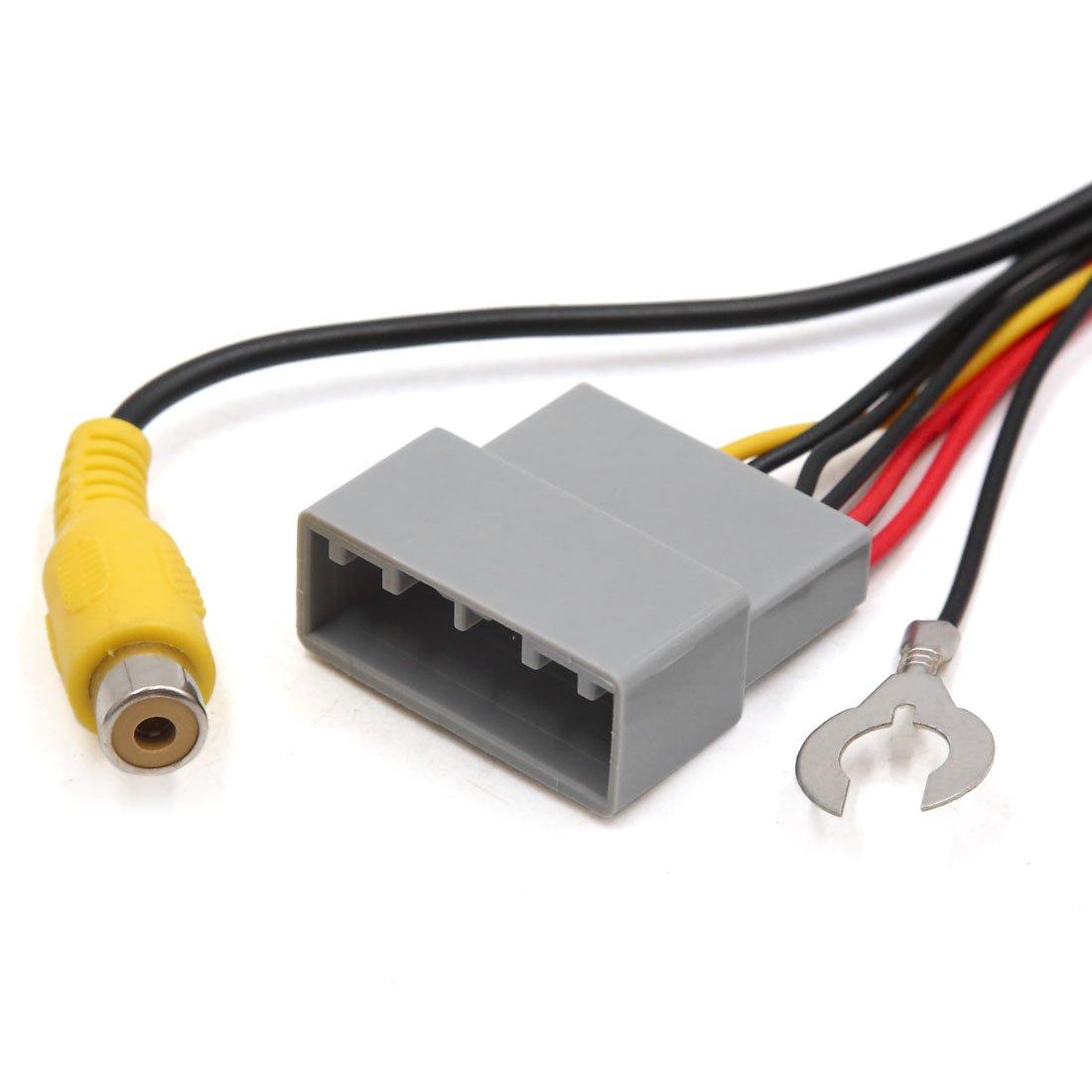sourcing map Adaptador Cable Conector de La C/ámara de Parking Marcha Atr/ás para Coche City