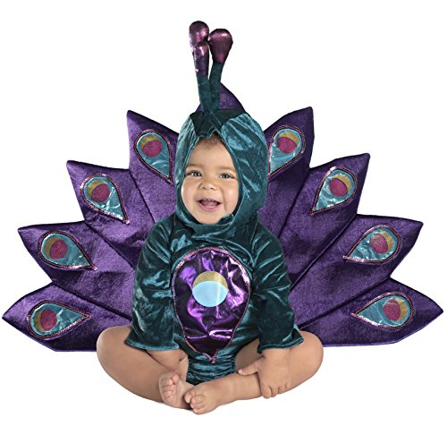 Princess Paradise Baby's Baby Peacock Deluxe Costume, As Shown, 18M/2T