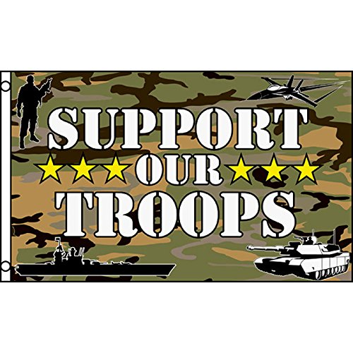 Support Our Troops  3x5 Polyester Flag