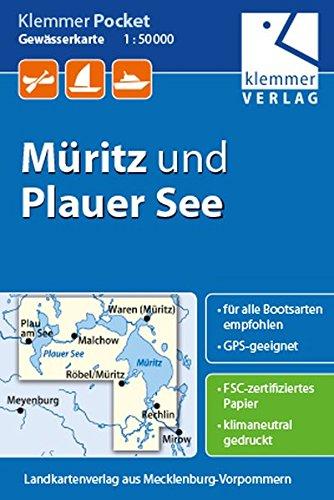 Klemmer Pocket Gewässerkarte Müritz Und Plauer See  Maßstab 1 50.000 GPS Geeignet Erlebnis Tipps Auf Der Rückseite