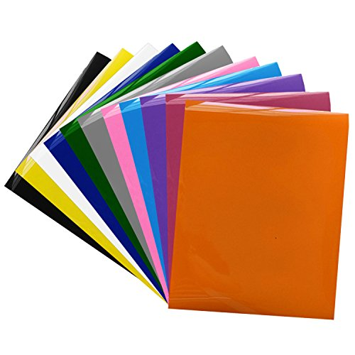 (Heat Transfer,Migavenn Heat Press Transfer PVC Heat Transfer Vinyl Paper for T-shirts Shoes Aprons Baseball Caps Sports Uniforms Assorted Colors 12)