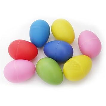 Sand Egg Tinksky 12pcs Plastic Percussion Musical Egg Maracas Egg Shakers Child Kids Toys random Color Orff Instruments