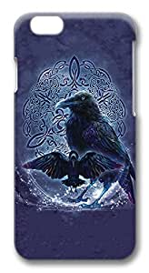 """ICORER Thin iphone 6 plus Case, Celtic Raven Plastic Hard Back Cover for Apple iPhone 6 Plus 5.5"""" Screen"""