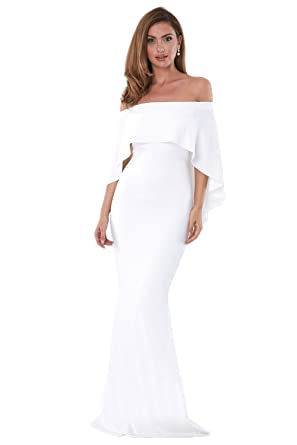 White Off the Shoulder Gown