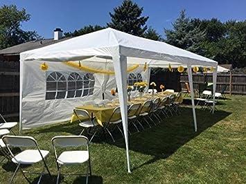 Amazon Peaktop 10x20 Outdoor Party Wedding Tent Canopy Gazebo Carport Storage Shelter Pavilion Multiple Choices White 10X20 Garden
