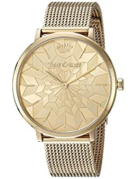 Juicy Couture Women's 'LA ULTRA SLIM' Quartz and Stainless-Steel Casual Watch, Color:Gold-Toned (Model: 1901586)
