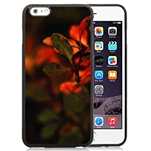 New Pupular And Unique Designed Case For iPhone 6 Plus 5.5 Inch With Nature Red Leaf Macro Black Phone Case