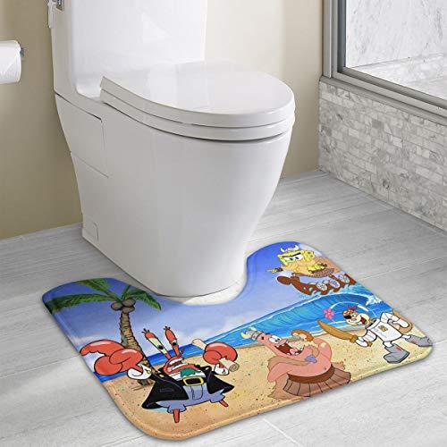 (Contour Bath Rug Spongebob Squarepant Pictures U-Shaped Toilet Floor Rug Shower Mat Non Slip Bathroom Carpet 19.3