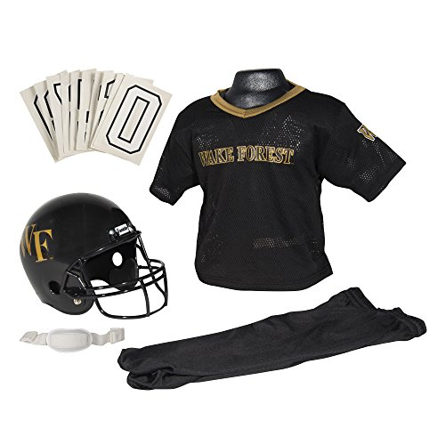 Franklin Sports NCAA Wake Forest Demon Deacons Youth Deluxe Team Uniform Set, Multi, Small